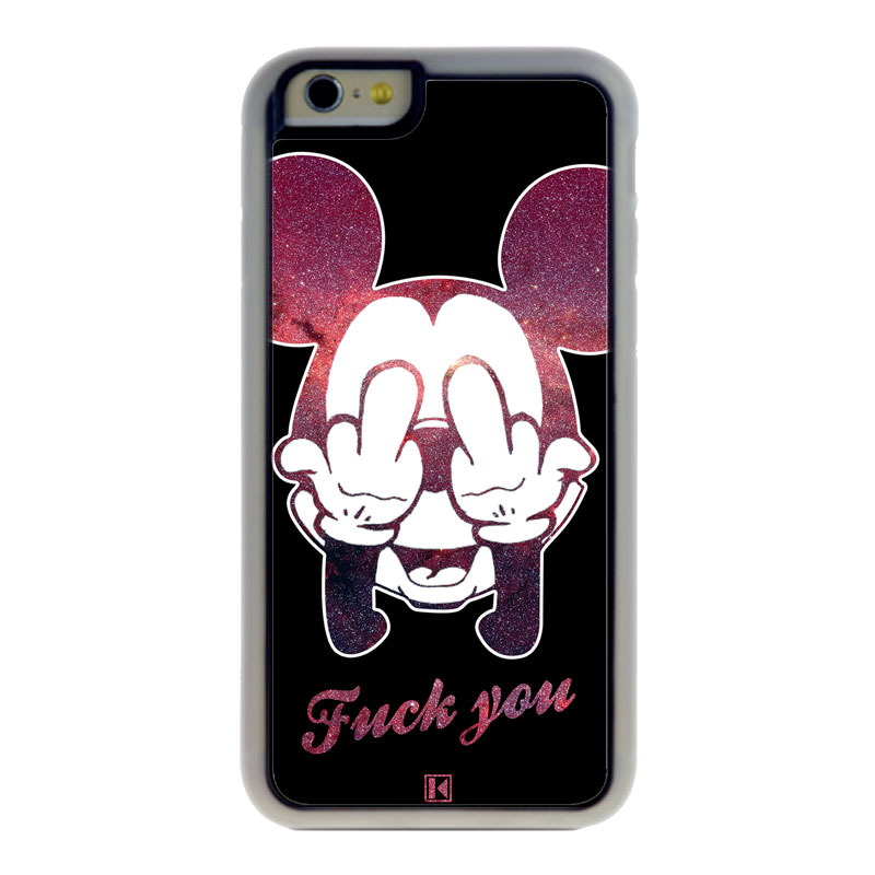 coque iphone 6 6s theklips mickey fuck you