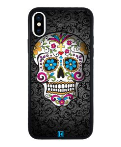 theklips-coque-iphone-x-10-sugar-skull-flower