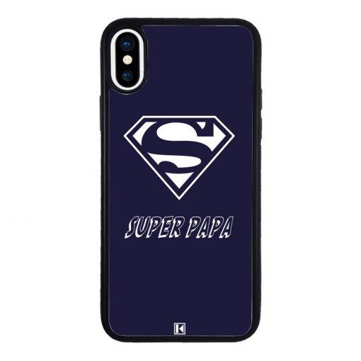 theklips-coque-iphone-x-super-papa-bleu-marine