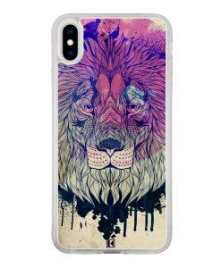 theklips-coque-iphone-xs-iphone-x-rubber-translu-lion-face