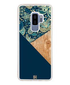 theklips-coque-galaxy-s9-plus-graphic-wood-bleu