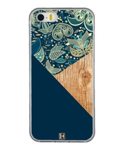 theklips-coque-iphone-5-5s-se-graphic-wood-bleu