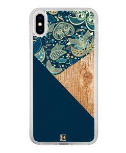 theklips-coque-iphone-xs-iphone-x-rubber-translu-graphic-wood-bleu
