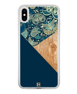 theklips-coque-iphone-xs-max-graphic-wood-bleu