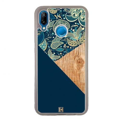 theklips-coque-p20-lite-graphic-wood-bleu