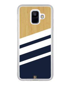 Coque Galaxy A6 2018 – Bambou Sport Bleu