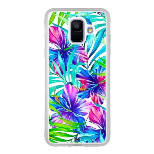 Coque Galaxy A6 2018 – Extoic flowers