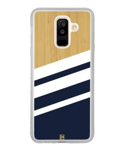 Coque Galaxy A6 Plus – Bambou Sport Bleu
