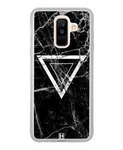Coque Galaxy A6 Plus – Black marble