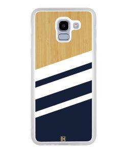 Coque Galaxy J6 2018 – Bambou Sport Bleu