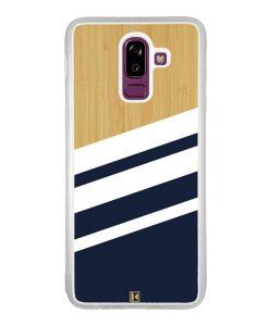 Coque Galaxy J8 2018 – Bambou Sport Bleu