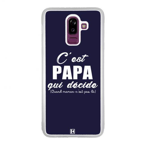 Coque Galaxy J8 2018 – C'est Papa qui décide