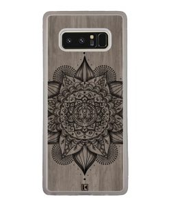 Coque Galaxy Note 8 – Mandala on wood