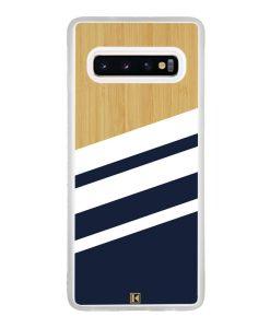Coque Galaxy S10 – Bambou Sport Bleu