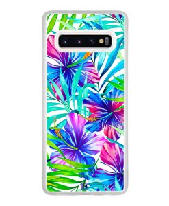 Coque Galaxy S10 – Extoic flowers