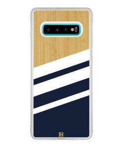 Coque Galaxy S10 Plus – Bambou Sport Bleu