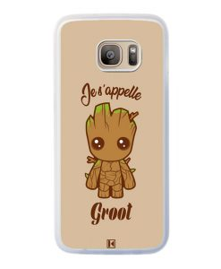 Coque Galaxy S7 Edge – Je s'appelle Groot