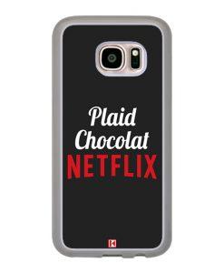 Coque Galaxy S7 – Plaid Chocolat Netflix