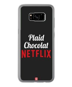 Coque Galaxy S8 Plus – Plaid Chocolat Netflix