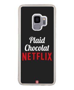 Coque Galaxy S9 – Plaid Chocolat Netflix