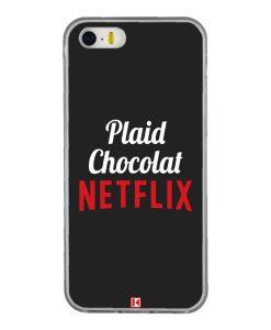 Coque iPhone 5/5s/SE – Plaid Chocolat Netflix