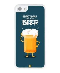 Coque iPhone 5c – Start with a beer