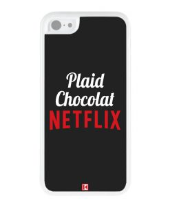 Coque iPhone 5c – Plaid Chocolat Netflix