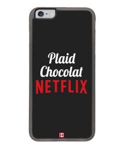Coque iPhone 6 Plus / 6s Plus – Plaid Chocolat Netflix