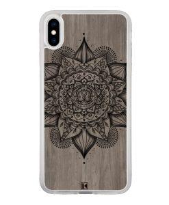 Coque iPhone X / Xs – Mandala on wood