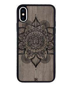 theklips-coque-iphone-x-iphone-xs-rubber-noir-mandala-on-wood