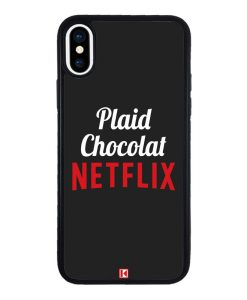theklips-coque-iphone-x-iphone-xs-rubber-noir-plaid-chocolat-netflix