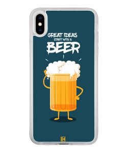 Coque iPhone X / Xs – Start with a beer