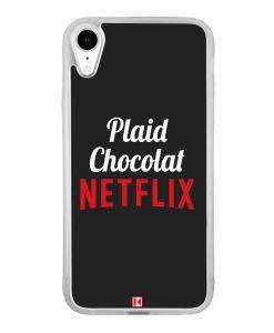 Coque iPhone Xr – Plaid Chocolat Netflix