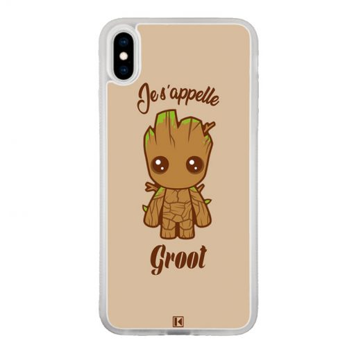 Coque iPhone Xs Max – Je s'appelle Groot