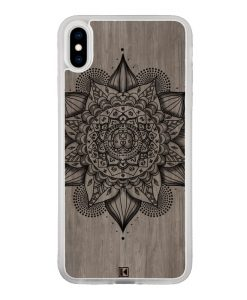 Coque iPhone Xs Max – Mandala on wood