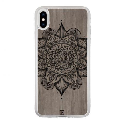 Coque iPhone Xs Max – Mandala on wood
