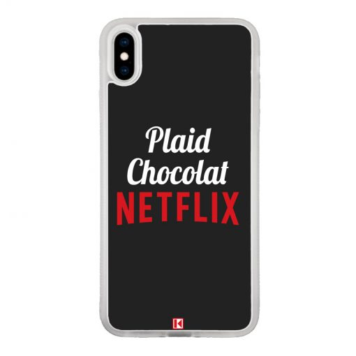 Coque iPhone Xs Max – Plaid Chocolat Netflix