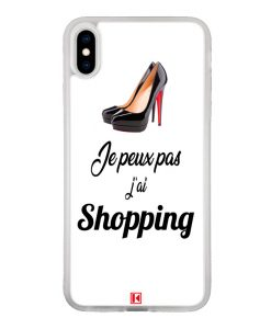 Coque iPhone Xs Max – Je peux pas j'ai Shopping