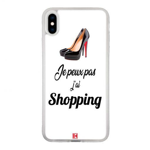 Coque iPhone Xs Max – Je peux pas j'ai Shopping