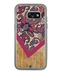 Coque Galaxy A3 2017 – Graphic wood rouge