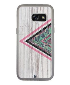 Coque Galaxy A3 2017 – Triangle on white wood