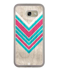 Coque Galaxy A5 2017 – Chevron on white wood