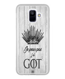 Coque Galaxy A6 2018 – Je peux pas j'ai Game of Thrones