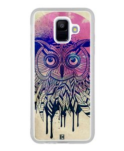Coque Galaxy A6 2018 – Owl face