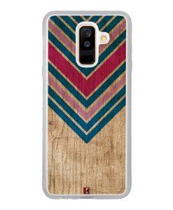 Coque Galaxy A6 Plus – Chevron on wood