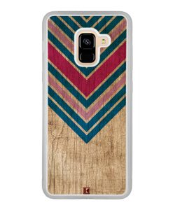 Coque Galaxy A8 2018 – Chevron on wood