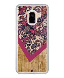 Coque Galaxy A8 2018 – Graphic wood rouge