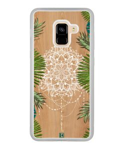 Coque Galaxy A8 2018 – Tropical wood mandala
