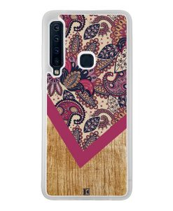 Coque Galaxy A9 2018 – Graphic wood rouge