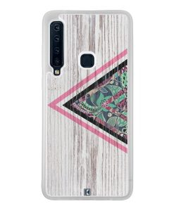 Coque Galaxy A9 2018 – Triangle on white wood